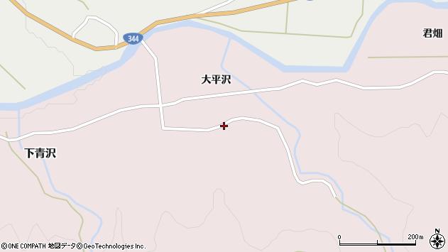 山形県酒田市下青沢大平沢159周辺の地図