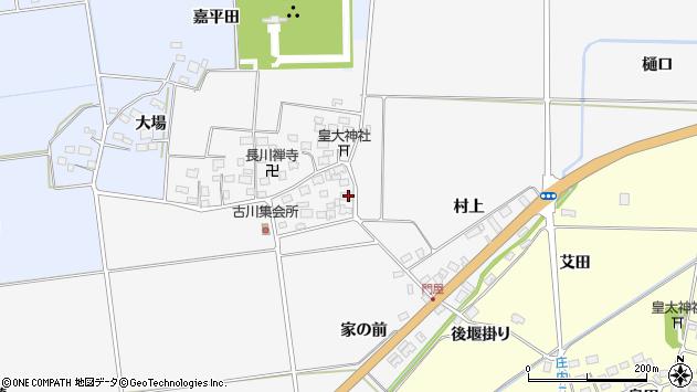 山形県酒田市刈穂古川52周辺の地図