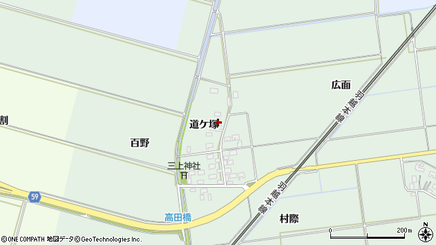 山形県酒田市保岡道ケ塚20周辺の地図