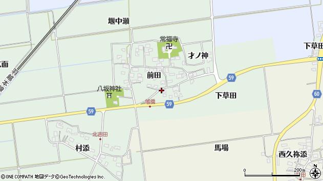 山形県酒田市保岡前田13周辺の地図
