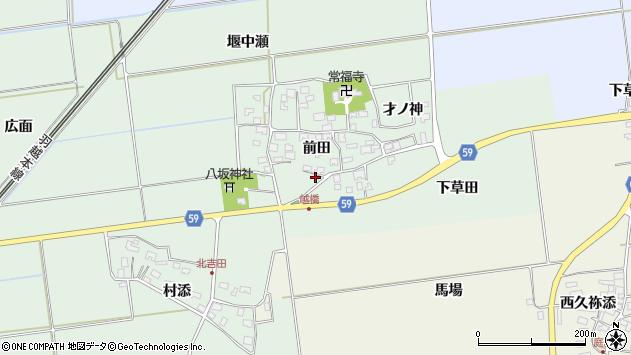 山形県酒田市保岡前田16周辺の地図
