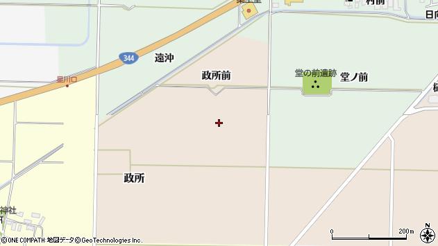 山形県酒田市市条政所前周辺の地図