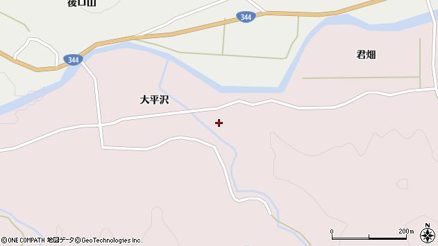 山形県酒田市下青沢大平沢285周辺の地図
