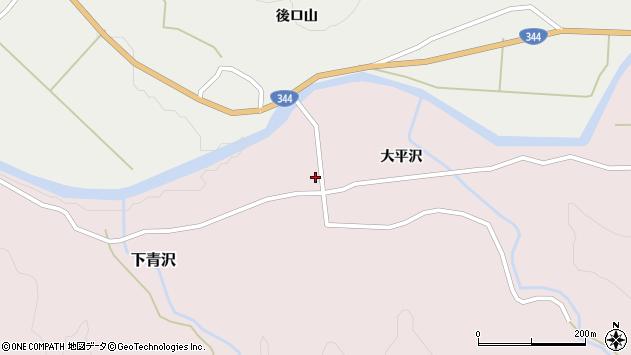 山形県酒田市下青沢前田周辺の地図