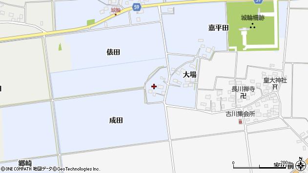 山形県酒田市城輪成田32周辺の地図