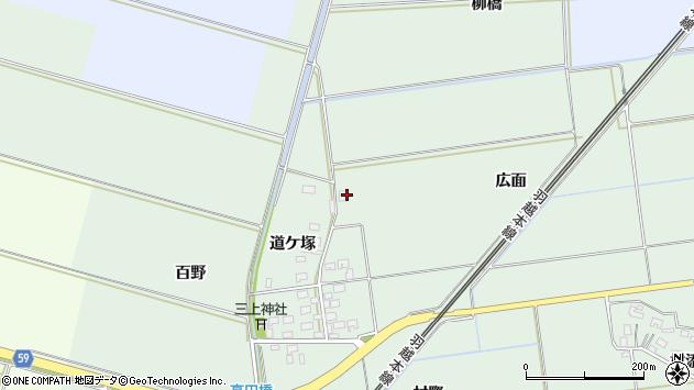 山形県酒田市保岡広面42周辺の地図