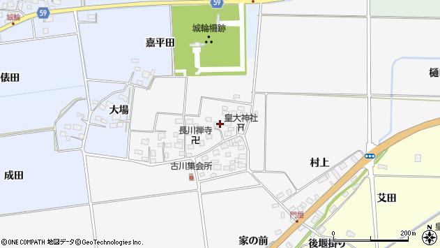 山形県酒田市刈穂古川64周辺の地図