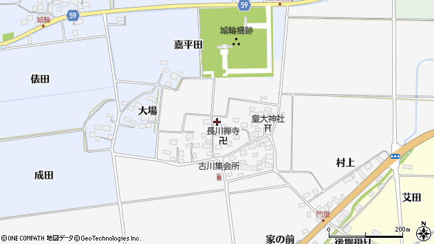 山形県酒田市刈穂古川71周辺の地図