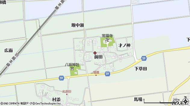 山形県酒田市保岡前田33周辺の地図