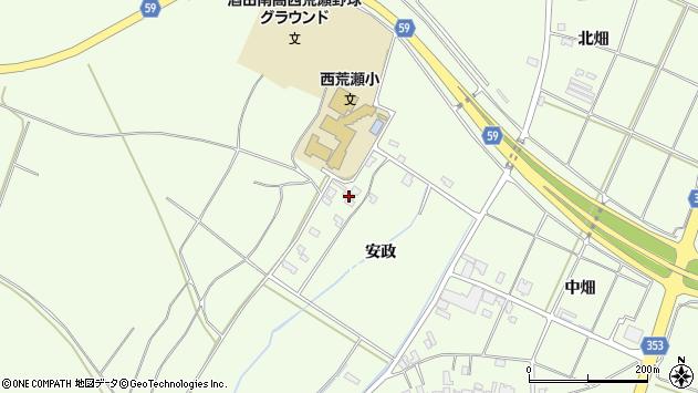 山形県酒田市宮海安政186周辺の地図