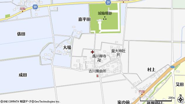 山形県酒田市刈穂古川82周辺の地図