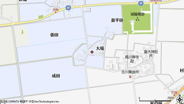 山形県酒田市城輪大場7周辺の地図