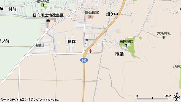 山形県酒田市市条横枕31周辺の地図