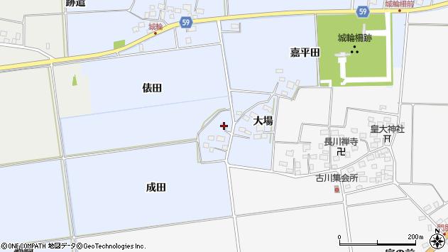 山形県酒田市城輪成田周辺の地図