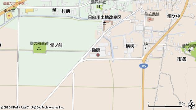 山形県酒田市市条樋掛周辺の地図