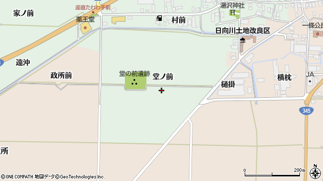 山形県酒田市法連寺堂ノ前周辺の地図