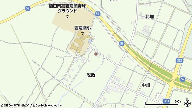 山形県酒田市宮海安政284周辺の地図