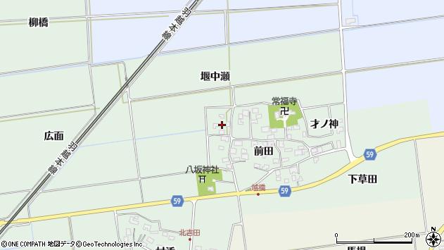 山形県酒田市保岡前田62周辺の地図