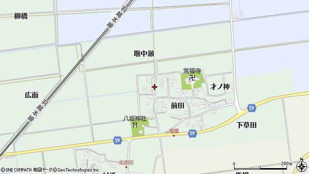 山形県酒田市保岡前田61周辺の地図