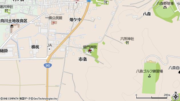 山形県酒田市市条山本42周辺の地図