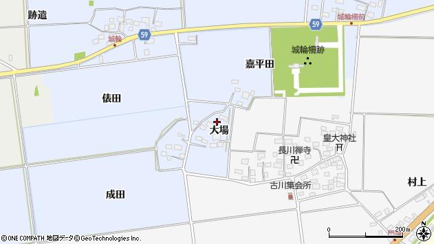 山形県酒田市城輪大場5周辺の地図