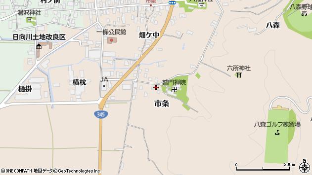 山形県酒田市市条山本40周辺の地図