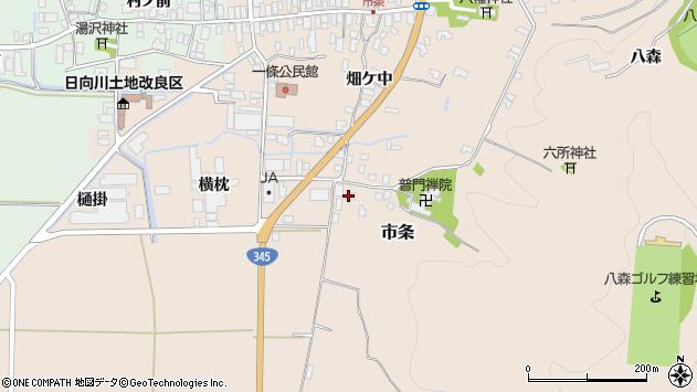 山形県酒田市市条山本37周辺の地図