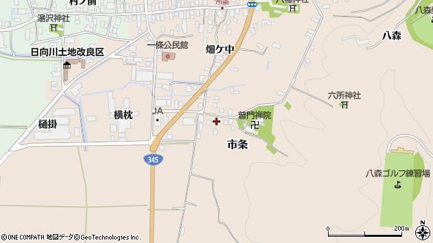 山形県酒田市市条山本38周辺の地図