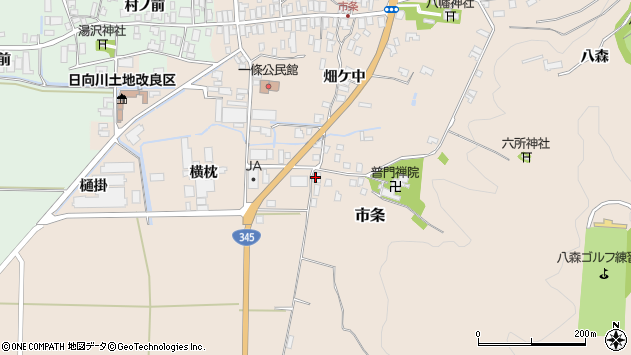 山形県酒田市市条山本36周辺の地図