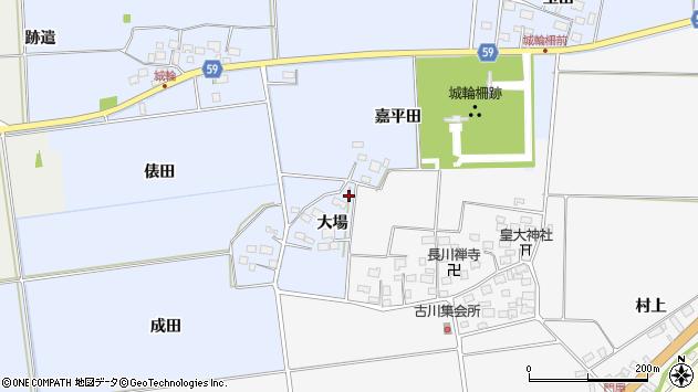 山形県酒田市城輪大場4周辺の地図