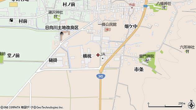 山形県酒田市市条横枕34周辺の地図