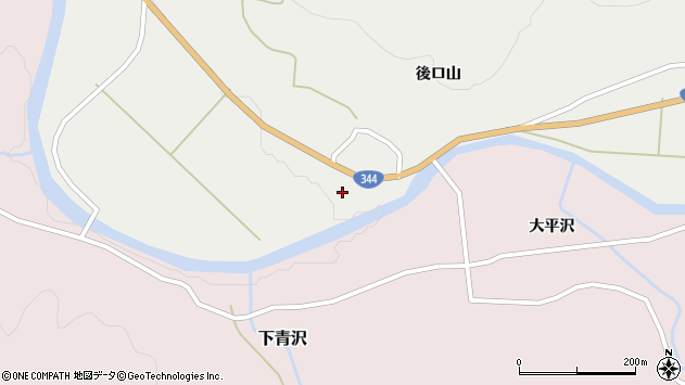 山形県酒田市大蕨前田周辺の地図