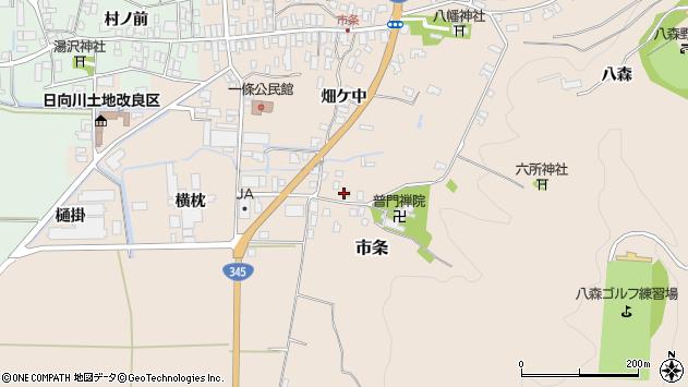 山形県酒田市市条山本30周辺の地図