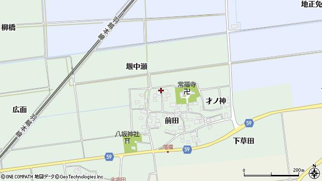 山形県酒田市保岡前田55周辺の地図