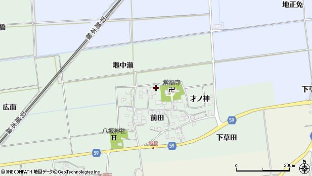 山形県酒田市保岡前田54周辺の地図