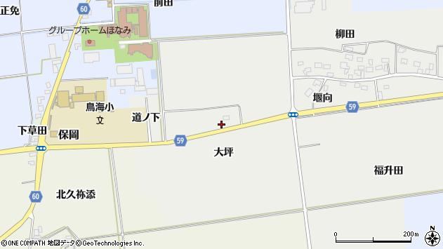 山形県酒田市豊原大坪12周辺の地図