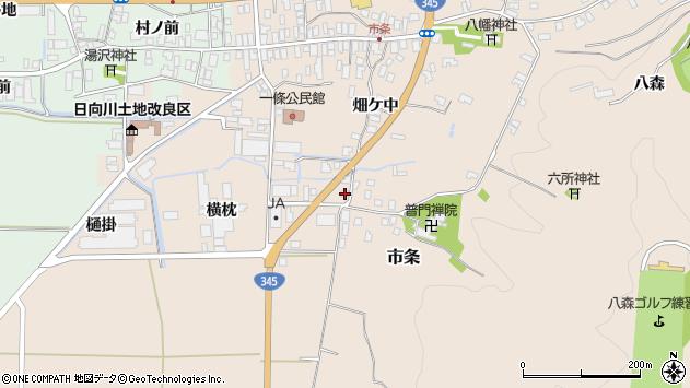 山形県酒田市市条横枕2周辺の地図