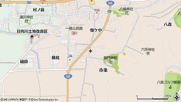 山形県酒田市市条山本33周辺の地図