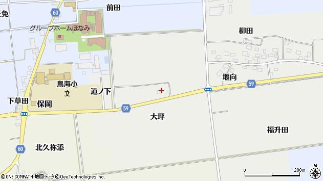 山形県酒田市豊原大坪11周辺の地図