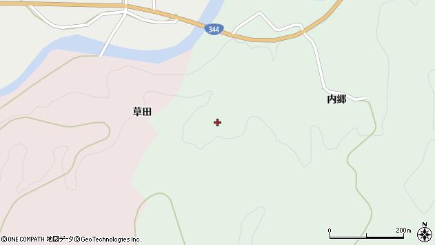 山形県酒田市上青沢寒風周辺の地図