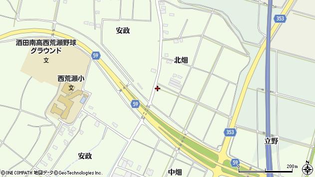 山形県酒田市藤塚北畑280周辺の地図
