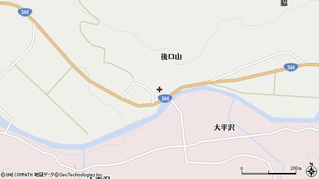 山形県酒田市大蕨後ロ山3周辺の地図