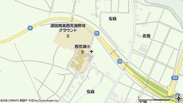 山形県酒田市宮海安政223周辺の地図