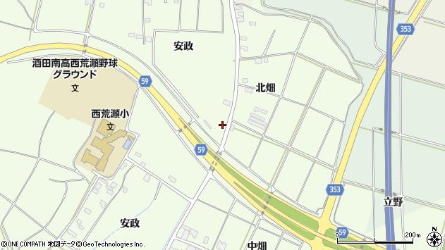 山形県酒田市宮海安政394周辺の地図