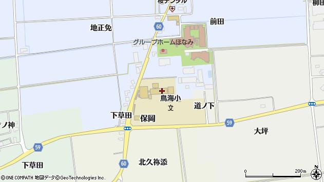 山形県酒田市本楯前田94周辺の地図