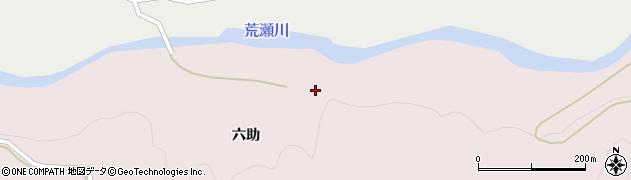 山形県酒田市下青沢六助周辺の地図
