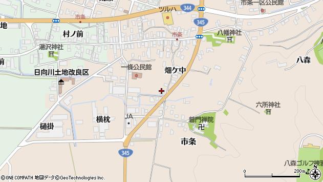 山形県酒田市市条村ノ前21周辺の地図
