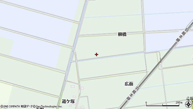 山形県酒田市保岡柳橋周辺の地図