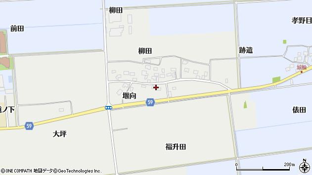 山形県酒田市豊原堰向1周辺の地図
