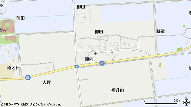 山形県酒田市豊原堰向5周辺の地図